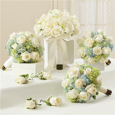 1 800 Flowers Blue And White Personal Package 1 Blue Bridal